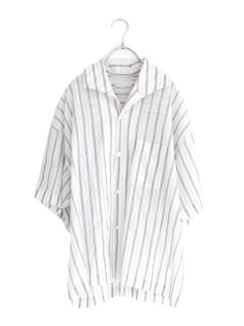 画像1: UNDECORATED / ストライプ半袖シャツ (1)