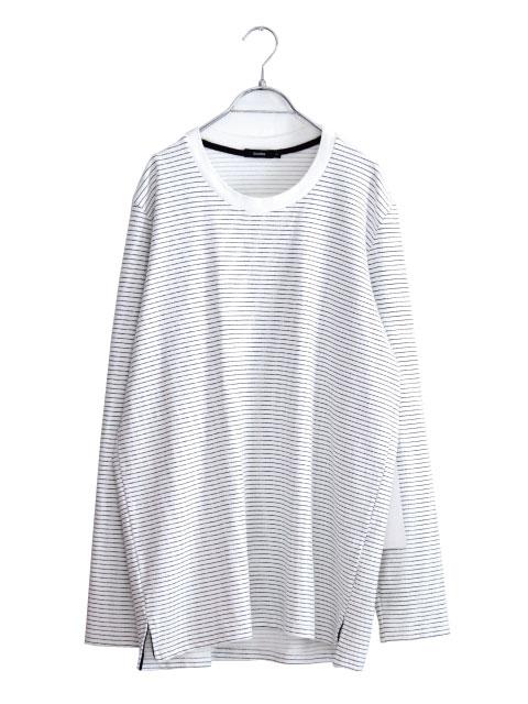 画像1: bassike / ストライプ長袖Tシャツ (1)