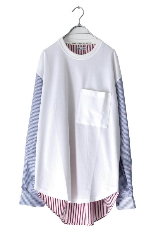 画像1: soe / ドッキングプルオーバーシャツ (1)