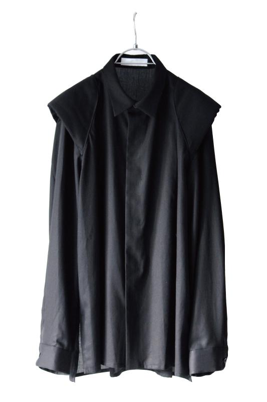 画像1: ETHOSENS / ショルダーパッドシャツ (1)