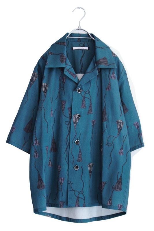 画像1: LIBERUM / タッセルプリントシャツ (1)
