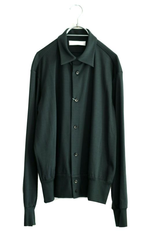 画像1: ETHOSENS / コットンニットシャツ (1)