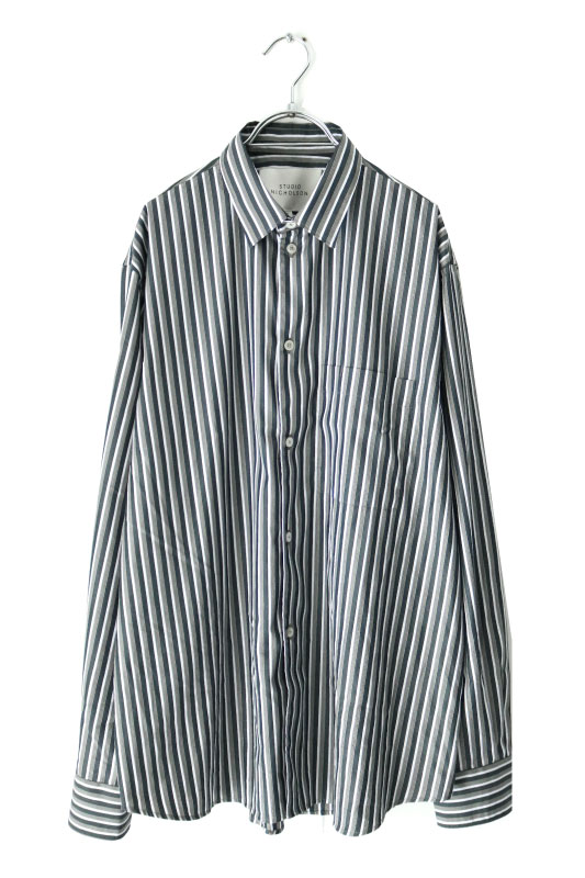画像1: STUDIO NICHOLSON / OVERSIZED POINT COLLAR SHIRT (1)