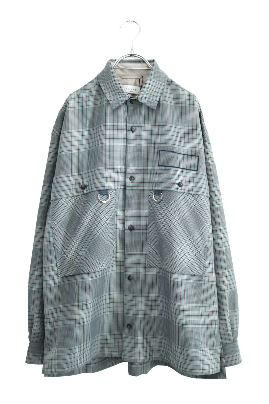 画像1: TAUPE /ドライチェックタックポケットCPOシャツ (1)