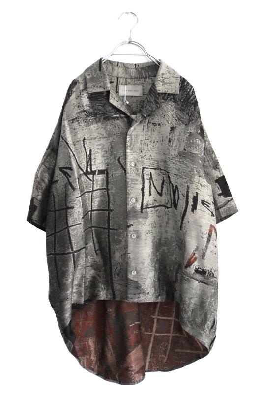 画像1: Licht Bestreben / ジャカードポンチョシャツ (1)
