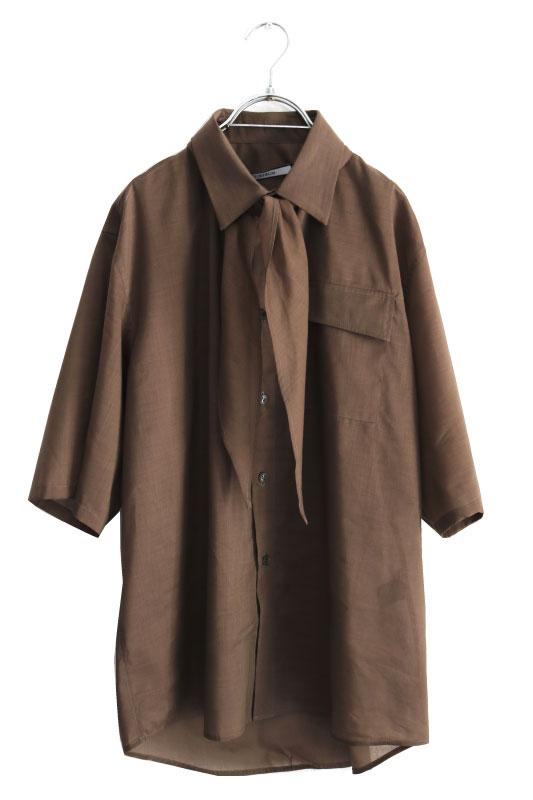 画像1: LIBERUM / スカーフシャツ (1)