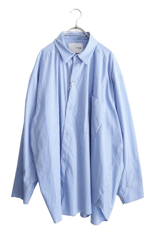 画像1: yoshio kubo GROUNDFLOOR / ツイステッドストライプシャツ (1)