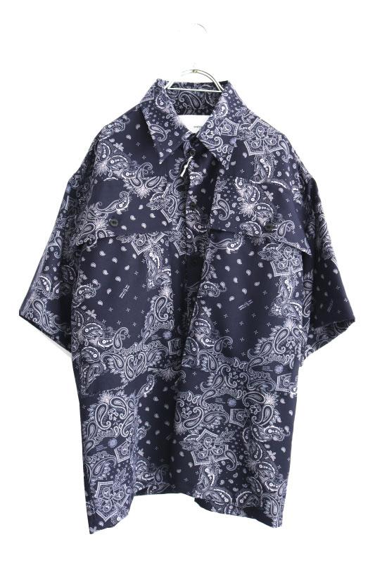 画像1: yoshio kubo GROUNDFLOOR / S/Sペイズリーシャツ (1)