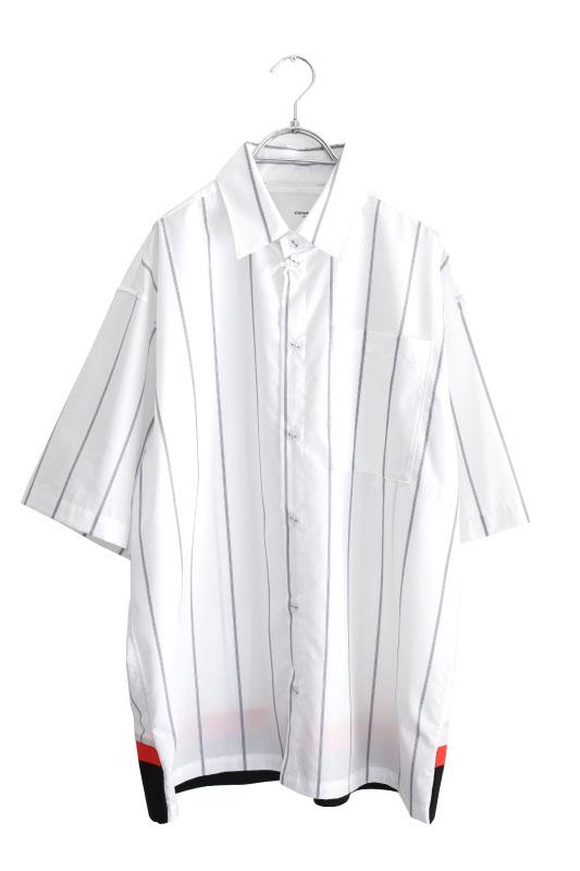 画像1: yoshio kubo GROUNDFLOOR / S/Sストライプシャツ (1)